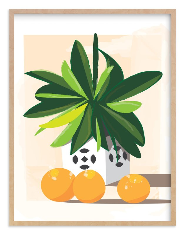 """""""Tropical Still Life"""" - Art Print by Lindsay Megahed in beautiful frame options and a variety of sizes."""