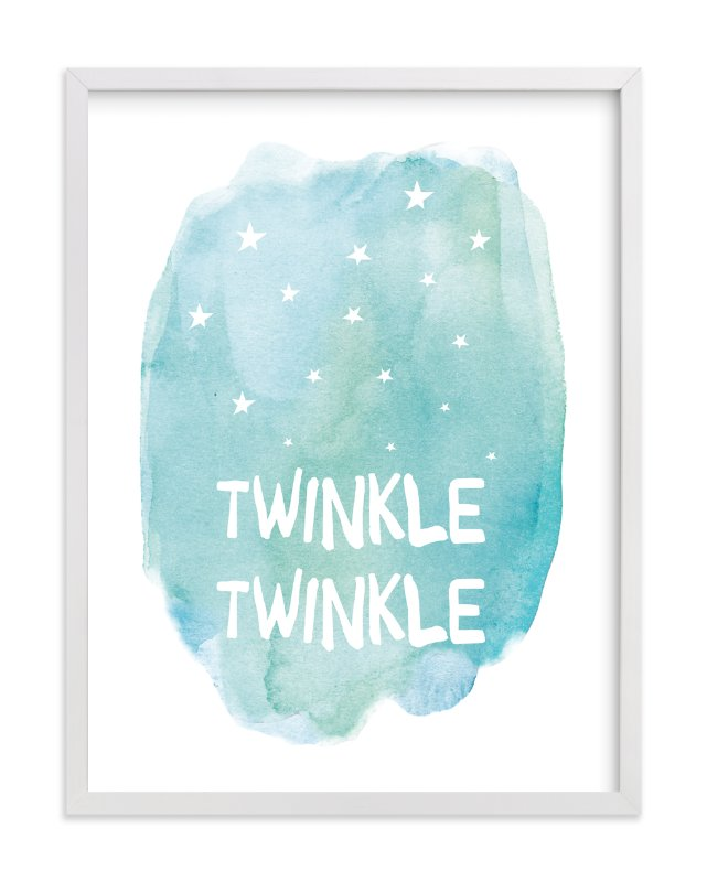 """Twinkle Twinkle"" - Limited Edition Art Print by Amy Hall in beautiful frame options and a variety of sizes."