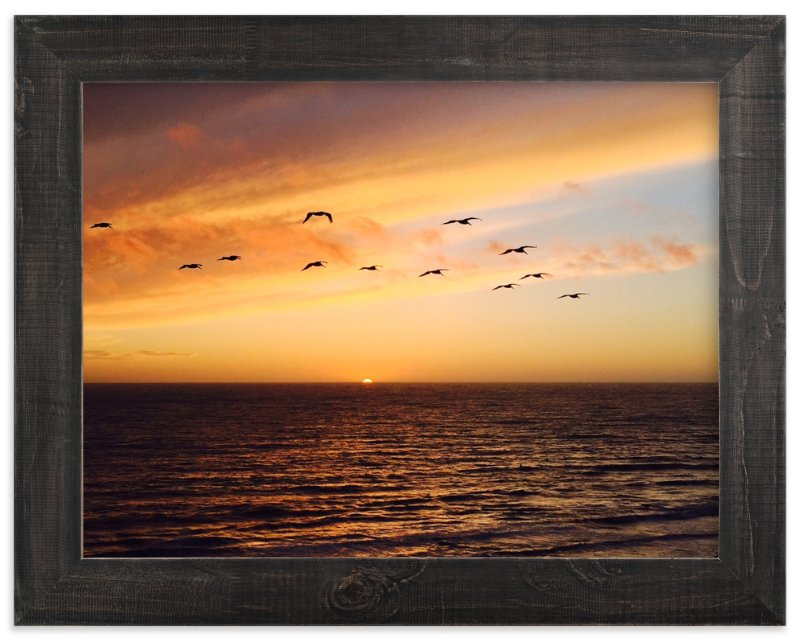 """Half Moon Sunset"" - Art Print by Jeff Vilkin in beautiful frame options and a variety of sizes."