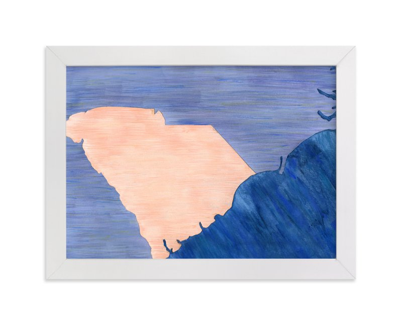 """South Carolina in Paint"" - Art Print by Denise Wong in beautiful frame options and a variety of sizes."