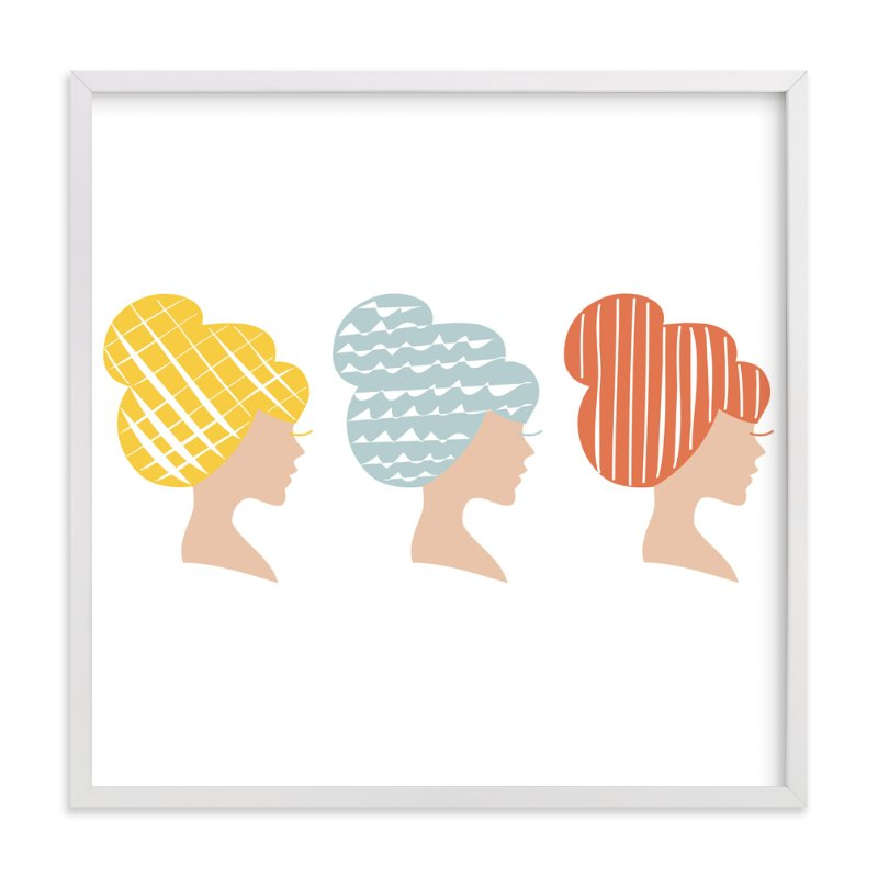 """A Blonde, a Brunette, and a Redhead "" - Art Print by feb10 design in beautiful frame options and a variety of sizes."