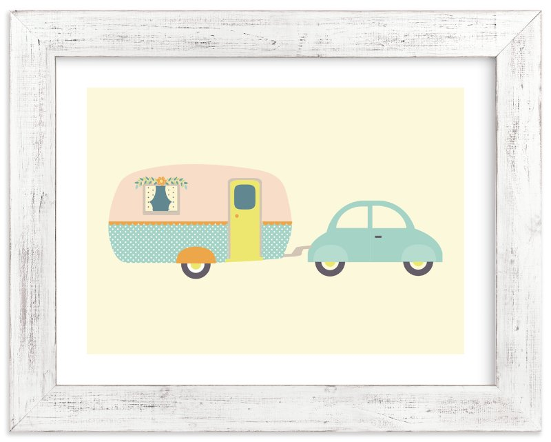 """Vintage Camper"" - Art Print by Anne Holmquist in beautiful frame options and a variety of sizes."