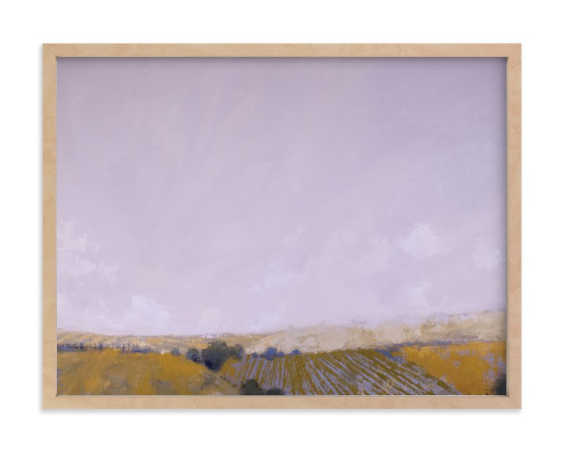 """""""Patchwork Fields"""" - Limited Edition Art Print by Kara Schlabaugh in beautiful frame options and a variety of sizes."""