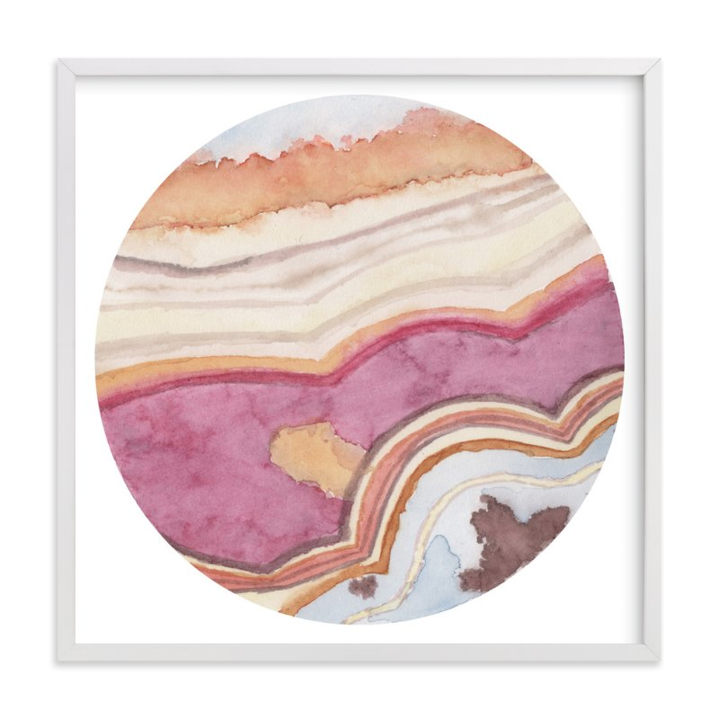 """Mineral 02"" - Art Print by Lily Hanna in beautiful frame options and a variety of sizes."