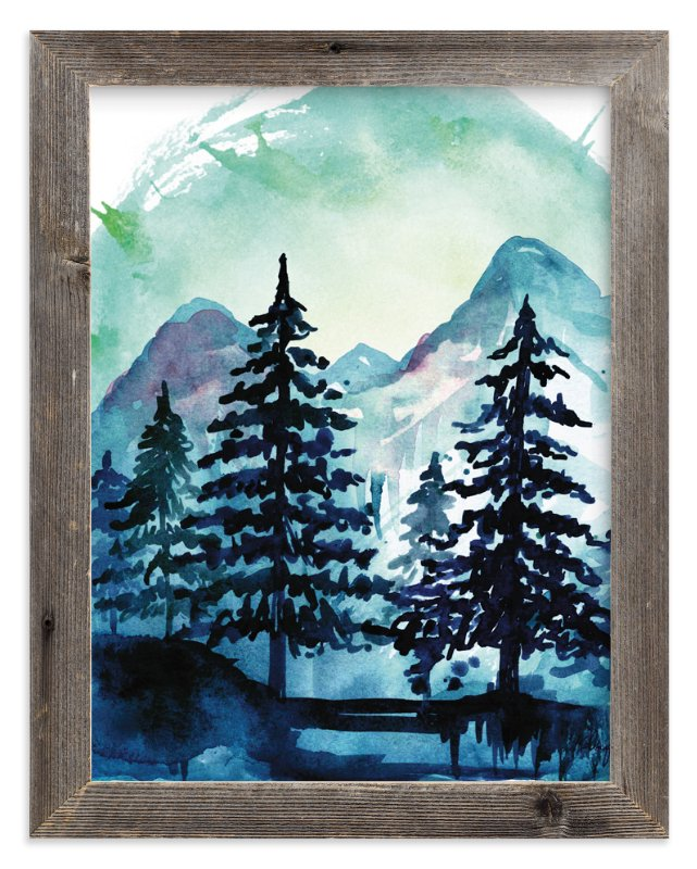 """Into the Woods"" - Art Print by Kelsey McNatt in beautiful frame options and a variety of sizes."
