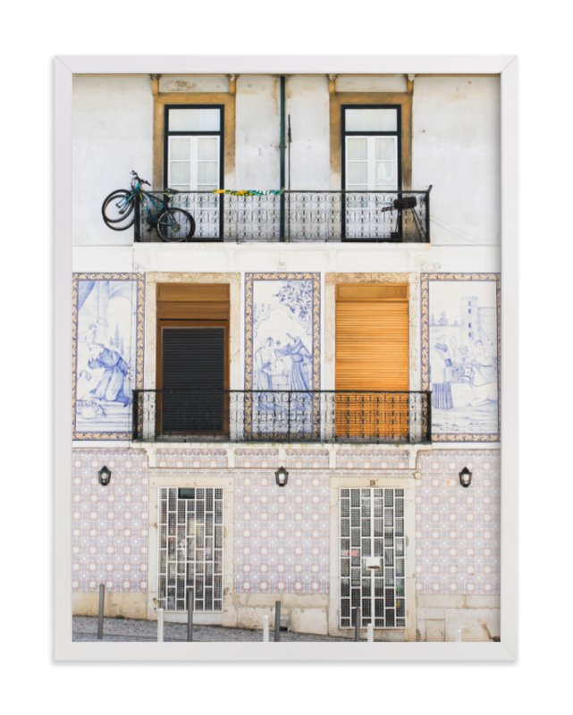 """""""Tiles of Portugal"""" - Art Print by Annie Montgomery in beautiful frame options and a variety of sizes."""