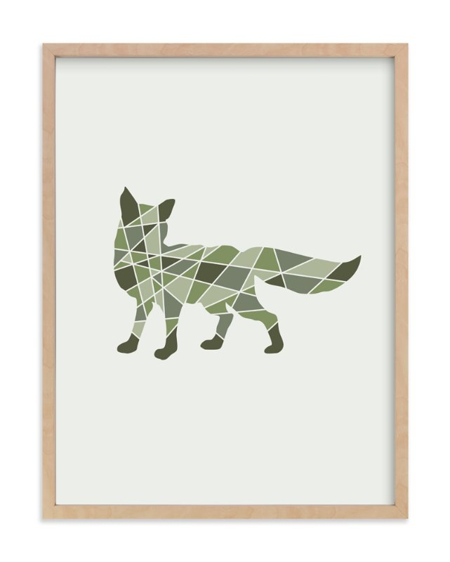 """""""Fox Geometry"""" - Art Print by Jennifer Morehead in beautiful frame options and a variety of sizes."""
