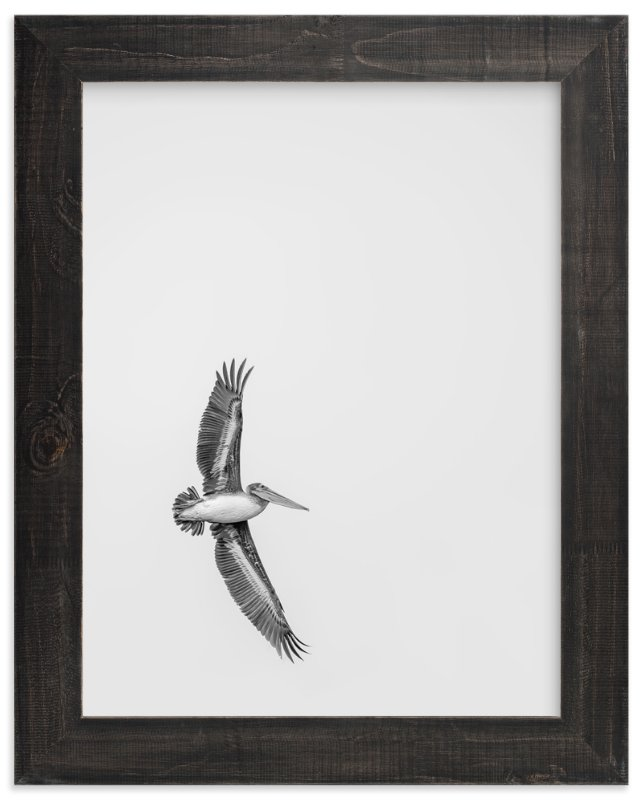 """Gliding Pelican Over Lake"" - Limited Edition Art Print by Mary Ann Glynn-Tusa in beautiful frame options and a variety of sizes."