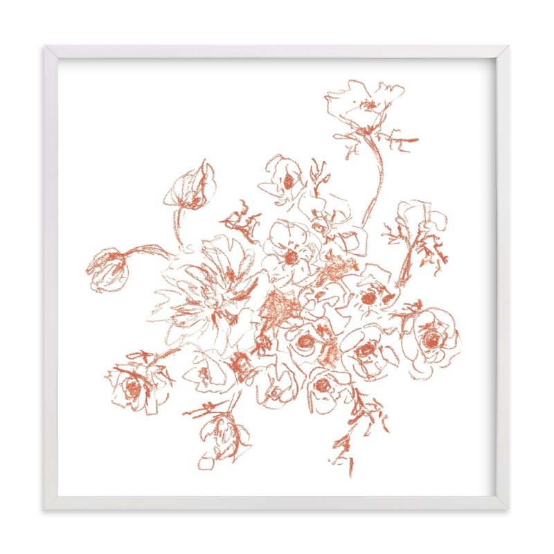 """Bouquet Study I "" - Art Print by Jennifer Allevato in beautiful frame options and a variety of sizes."