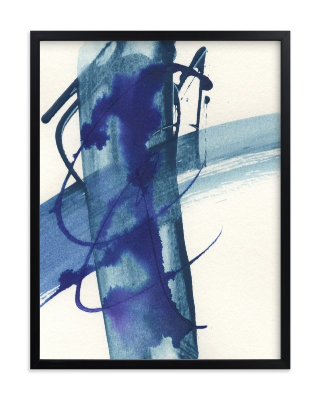"""Modern Blue One"" - Art Print by Misty Hughes in beautiful frame options and a variety of sizes."