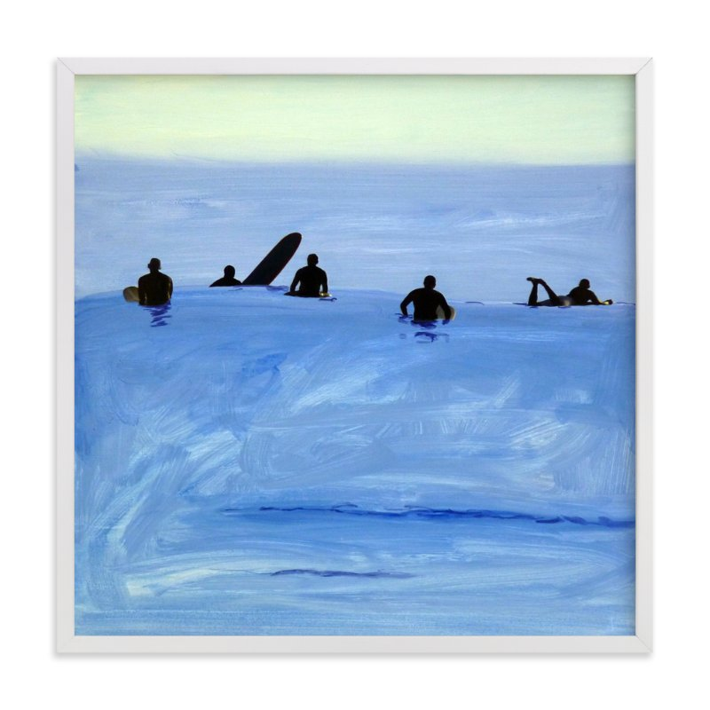 """Waiting For Swell, 2010"" - Art Print by Annie Seaton in beautiful frame options and a variety of sizes."
