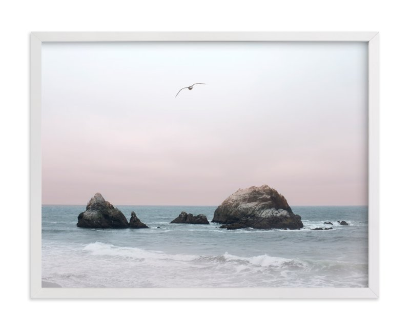 """California Seascape"" - Art Print by Wilder California in beautiful frame options and a variety of sizes."