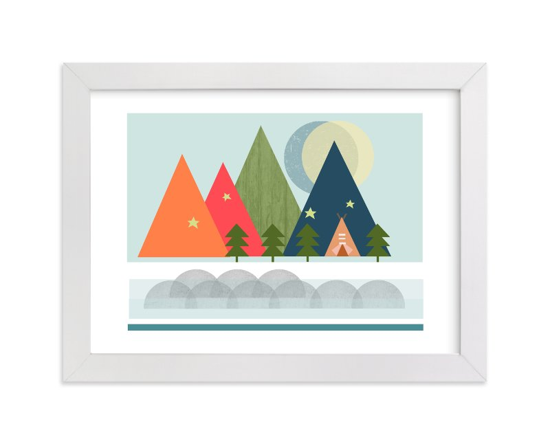"""""""Gone Camping"""" - Limited Edition Art Print by Alison Jerry Designs in beautiful frame options and a variety of sizes."""