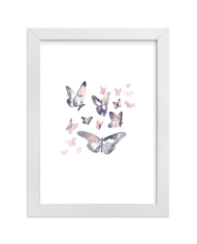 """Papillons"" - Limited Edition Art Print by Jocelyn Edin in beautiful frame options and a variety of sizes."