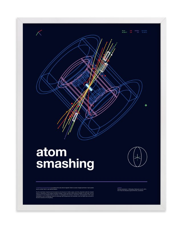 """""""Atom Smashing"""" - Art Print by Tyler Tea in beautiful frame options and a variety of sizes."""