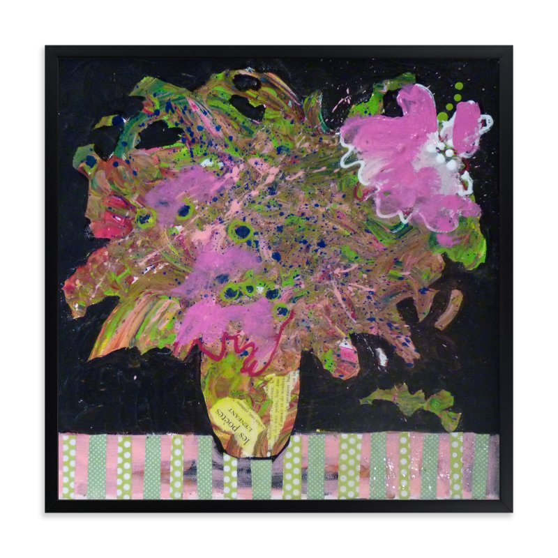 """Bouquet for a poet"" - Art Print by Johanne Roy in beautiful frame options and a variety of sizes."