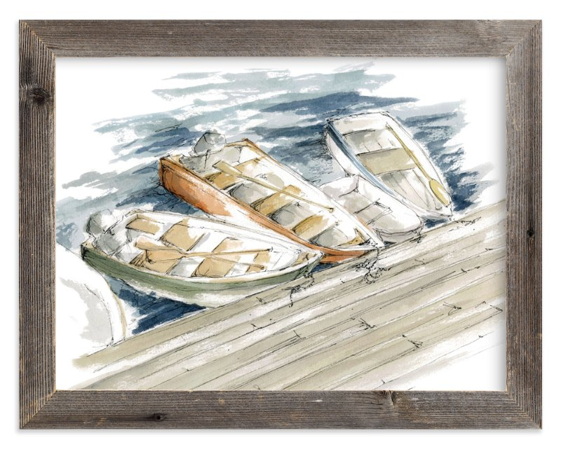 """""""On the Docks"""" - Art Print by Kirby Lee Smith in beautiful frame options and a variety of sizes."""