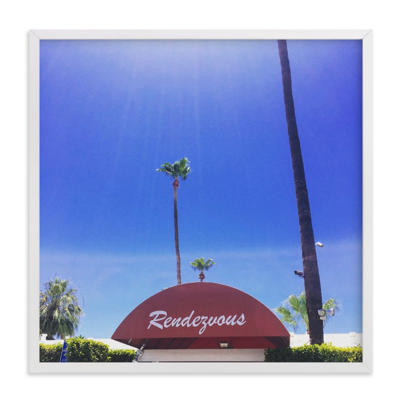 """Rendezvous in Palm Springs "" - Art Print by TweetSweet in beautiful frame options and a variety of sizes."