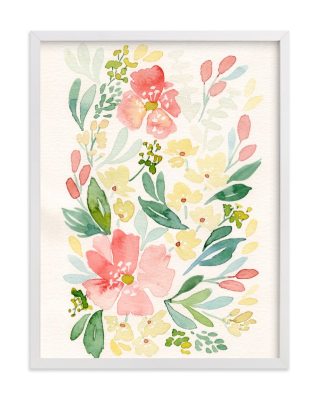 """Coral Peonies"" - Art Print by Natalie Malan in beautiful frame options and a variety of sizes."