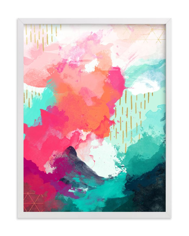 """The Storm Before the Calm"" - Art Print by Jess Phoenix in beautiful frame options and a variety of sizes."