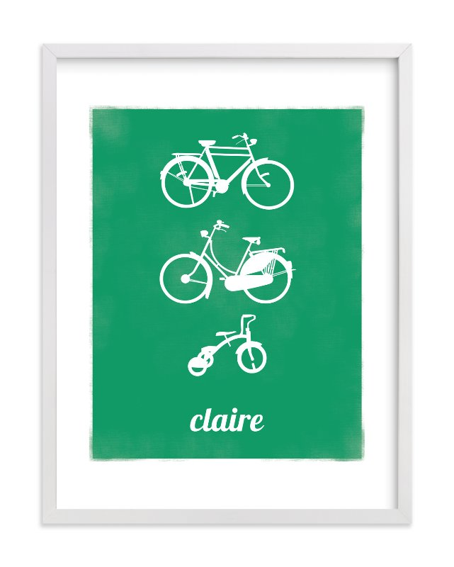 """Bike Love"" - Nursery Custom Art Print by That Girl Studio in beautiful frame options and a variety of sizes."