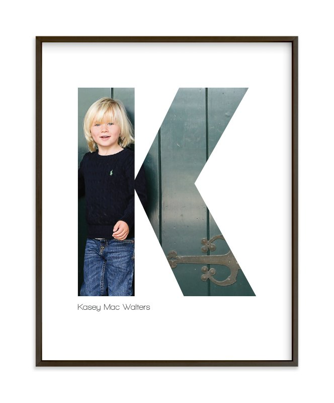 """K - Within Letters of You"" - Children's Custom Photo Art Print by Heather Francisco in beautiful frame options and a variety of sizes."