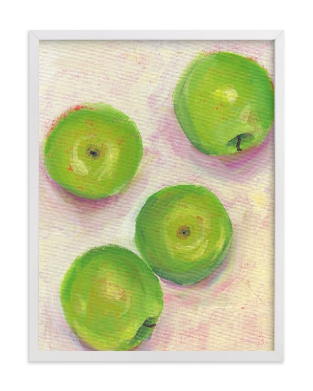 """Green Apples"" - Art Print by Lindsay Megahed in beautiful frame options and a variety of sizes."