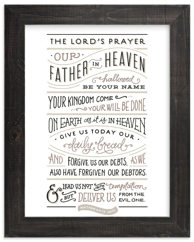 """The Lord's Prayer"" - Art Print by Jennifer Wick in beautiful frame options and a variety of sizes."