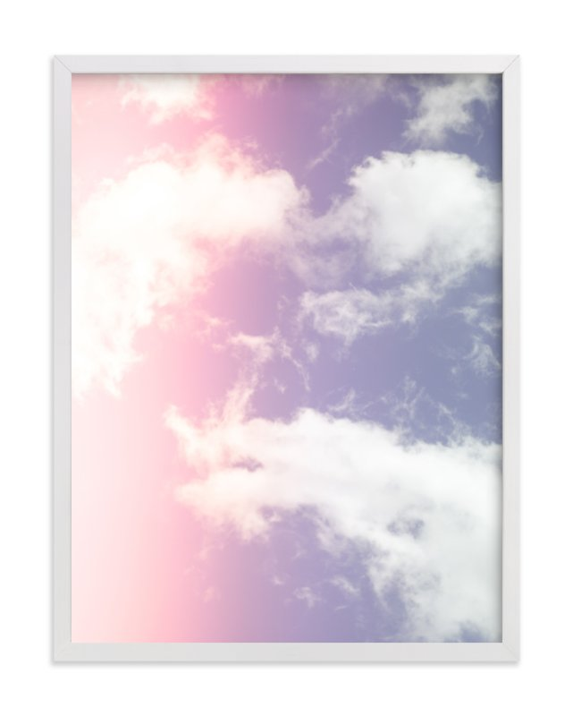"""""""Cotton Candy Clouds"""" - Art Print by Erin Beutel in beautiful frame options and a variety of sizes."""