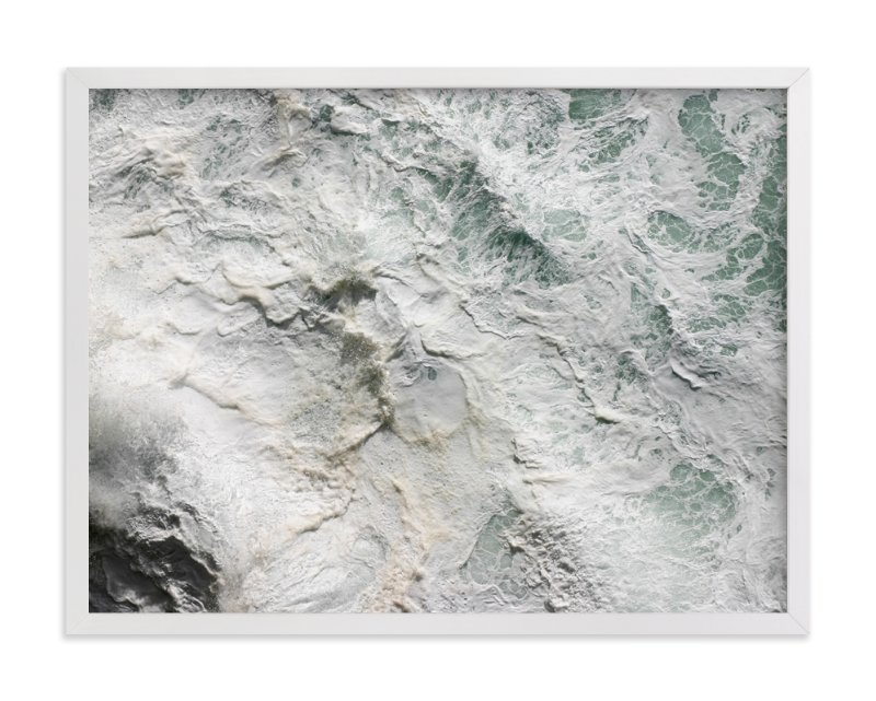"""Foaming Sea Water III"" - Art Print by Becky Nimoy in beautiful frame options and a variety of sizes."