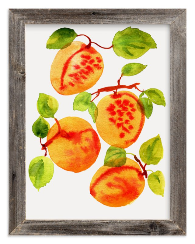 """Apricots"" - Art Print by Alexandra Dzh in beautiful frame options and a variety of sizes."