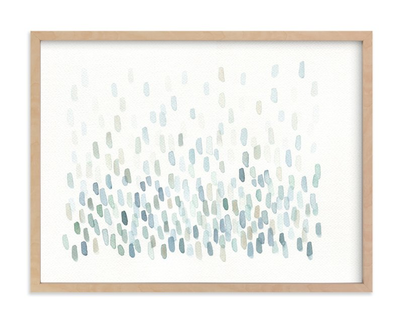 """Cascading River Stones"" - Art Print by Tennyson Tippy in beautiful frame options and a variety of sizes."