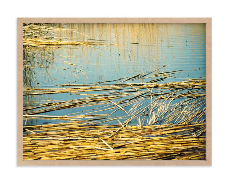 """""""The Lake"""" - Art Print by Pelin Hepcilingirler in beautiful frame options and a variety of sizes."""