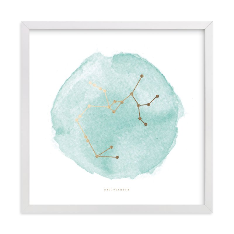 """Sagittarius"" - Foil-pressed Art Print by annie clark in beautiful frame options and a variety of sizes."