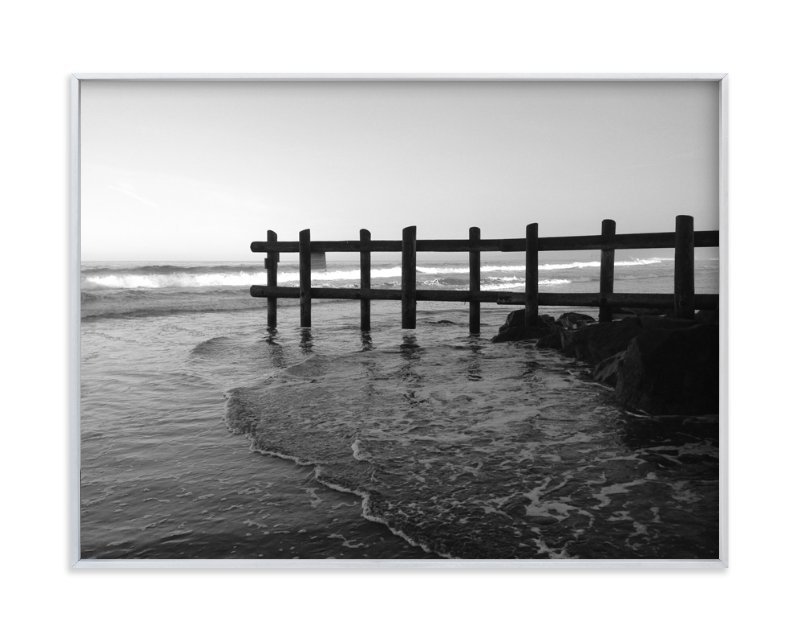 """La Jolla Beach Landscape "" - Art Print by aeryn donnelly design in beautiful frame options and a variety of sizes."