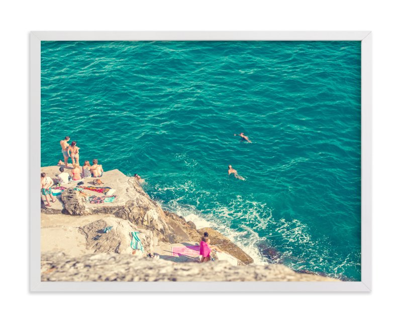 """Seaside"" - Art Print by Alexandra Nazari in beautiful frame options and a variety of sizes."