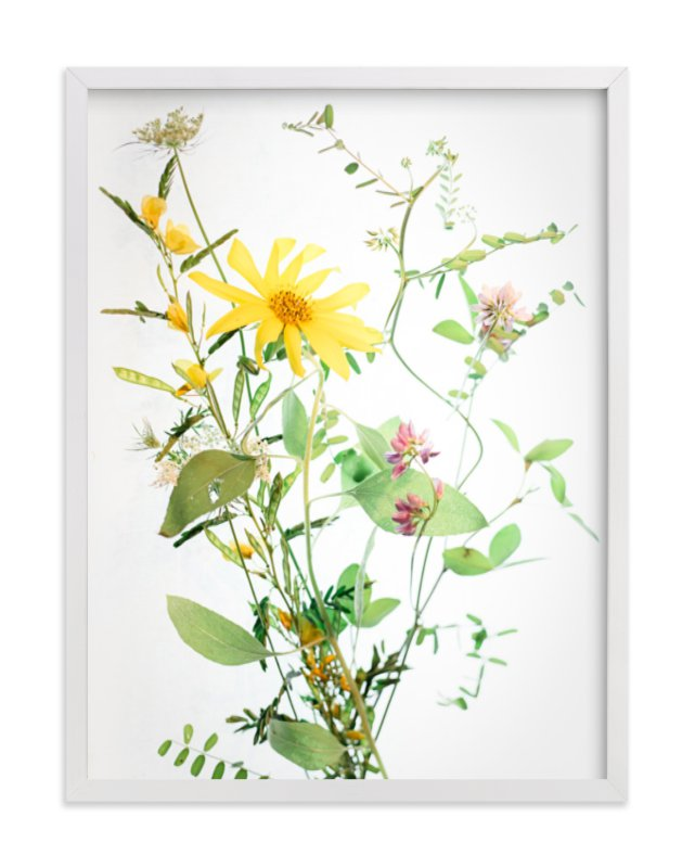 """""""A  Bunch of Wild Flowers"""" - Art Print by Qing Ji in beautiful frame options and a variety of sizes."""