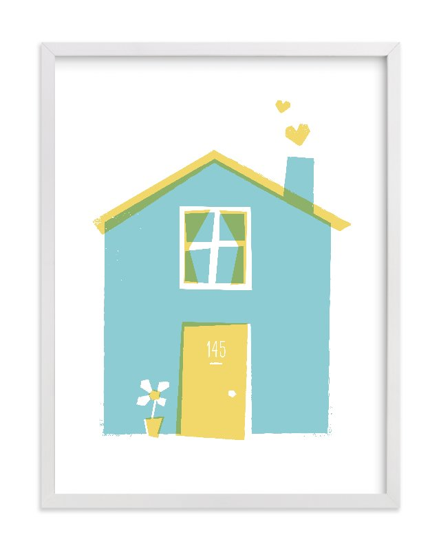"""Happy Home"" - Limited Edition Art Print by Paper Rose in beautiful frame options and a variety of sizes."
