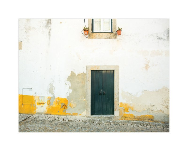 """Óbidos"" - Art Print by Heather Deffense in beautiful frame options and a variety of sizes."