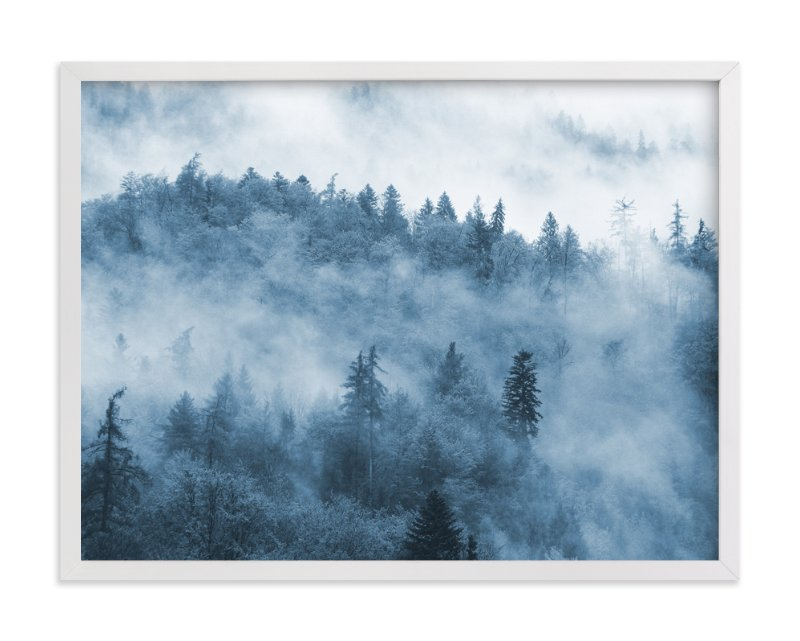 """""""misty forest"""" - Art Print by lulu and isabelle in beautiful frame options and a variety of sizes."""