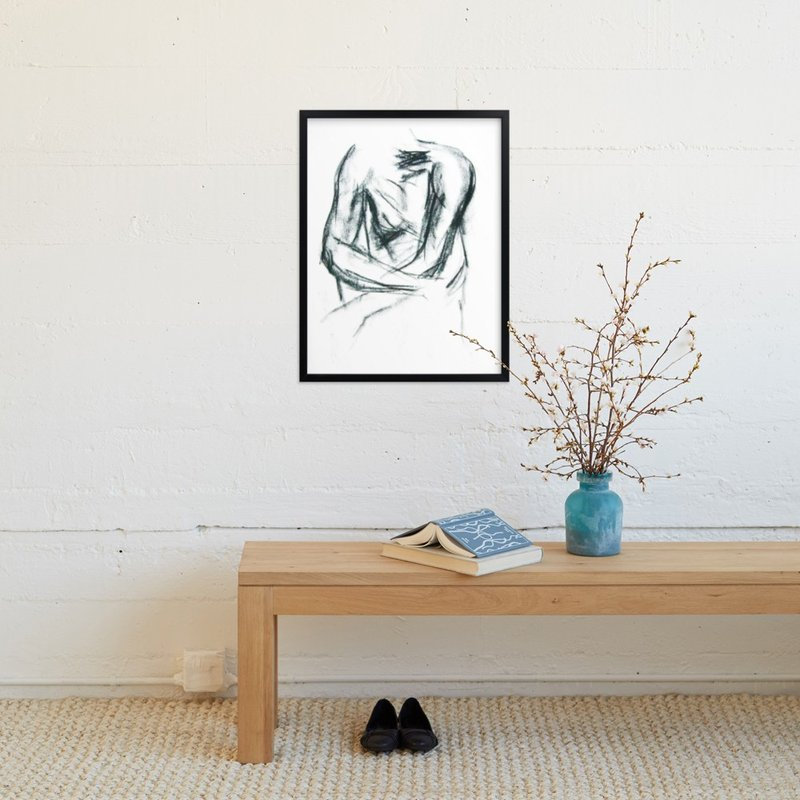 """Embrace"" - Art Print by R studio in beautiful frame options and a variety of sizes."
