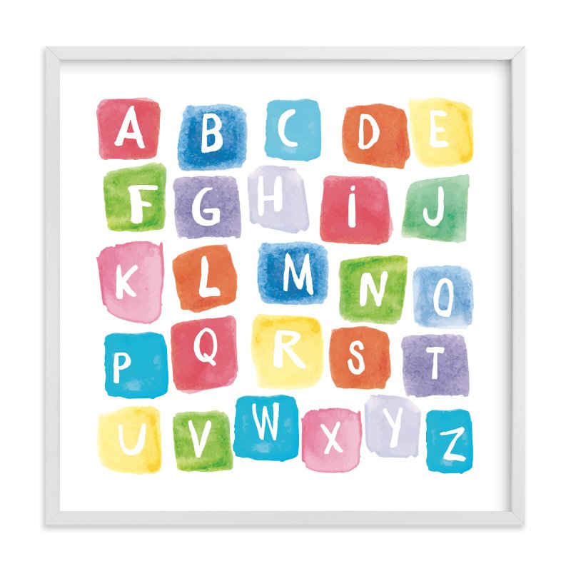 """ABC squares"" - Limited Edition Art Print by Amy Hall in beautiful frame options and a variety of sizes."