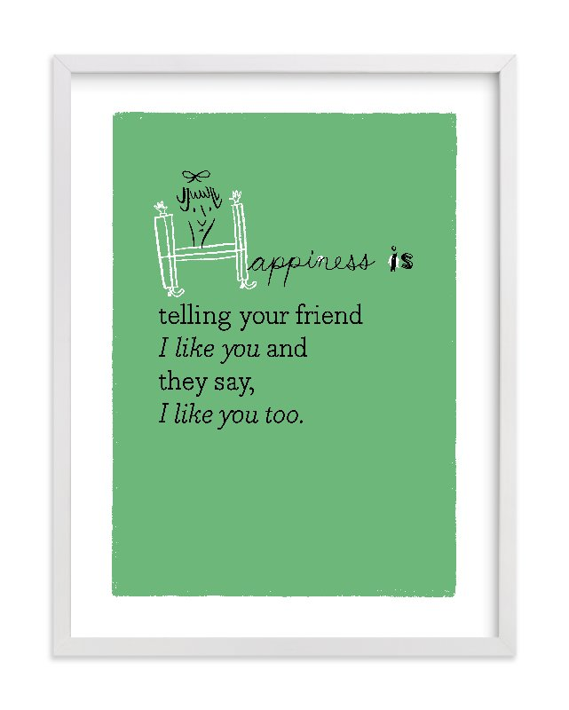 """""""Happiness Is..."""" - Limited Edition Art Print by ERAY in beautiful frame options and a variety of sizes."""