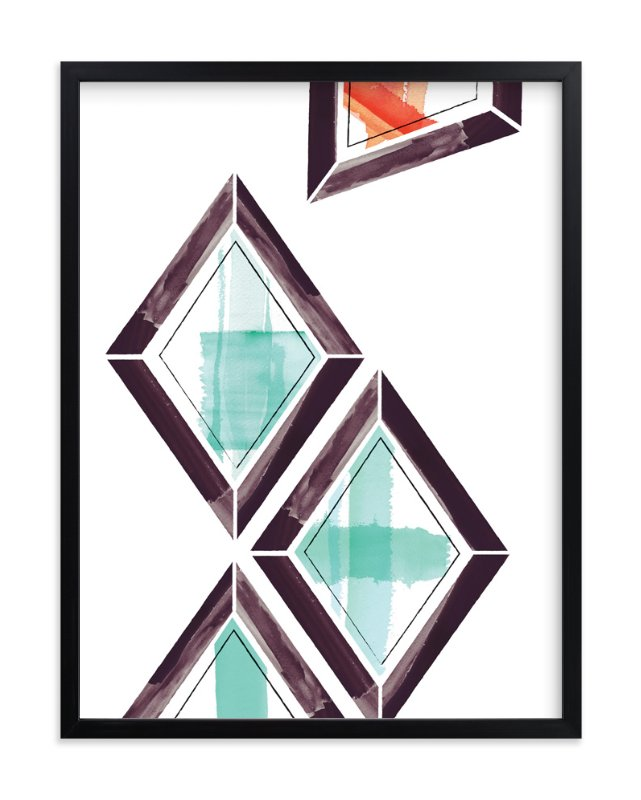 """Geometry Uprising Two"" - Art Print by Angela Marzuki in beautiful frame options and a variety of sizes."
