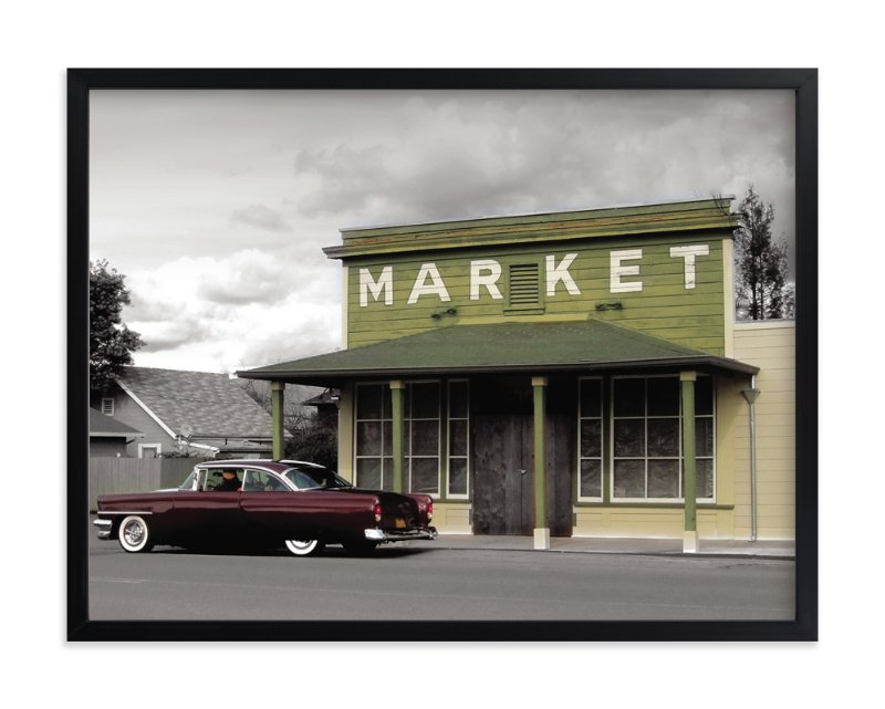 """Market"" - Art Print by Designkandy in beautiful frame options and a variety of sizes."