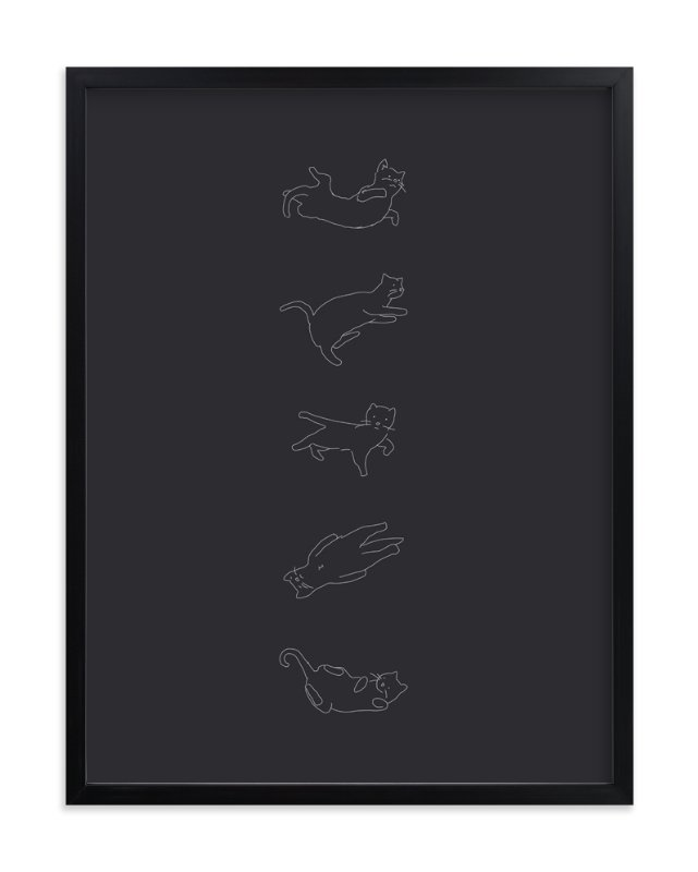 """""""Silly Kitty"""" - Art Print by Tyler Tea in beautiful frame options and a variety of sizes."""