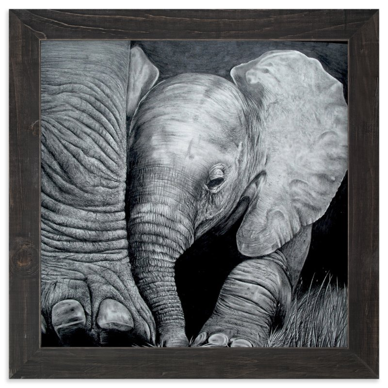 Mommyu0027s Baby Elephant Wall Art Prints By Jerry Winick | Minted
