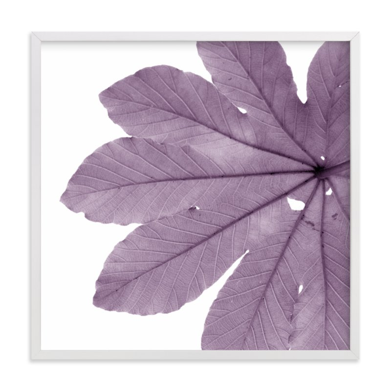 """""""Leaf in Lilac"""" - Art Print by Jonathan Brooks in beautiful frame options and a variety of sizes."""