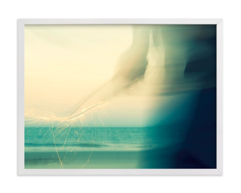 """Abstract Beach Sparkler"" - Limited Edition Art Print by Whitney Deal in beautiful frame options and a variety of sizes."