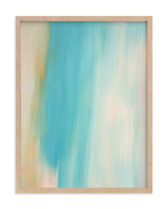 """""""Ethereal Blue"""" - Art Print by Artsy Canvas Girl Designs in beautiful frame options and a variety of sizes."""